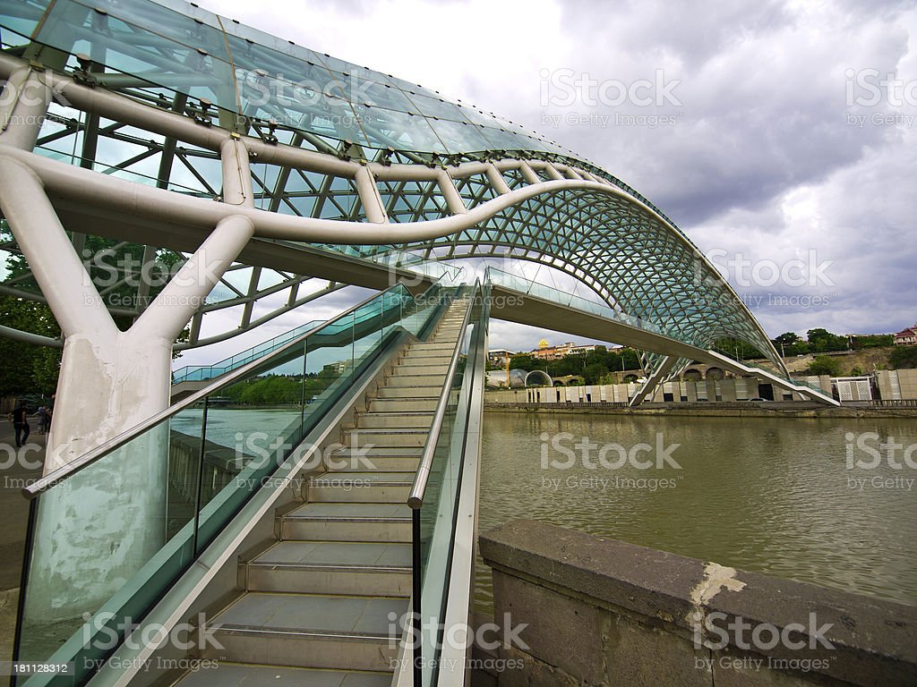 Tbilisi bridge royalty-free stock photo
