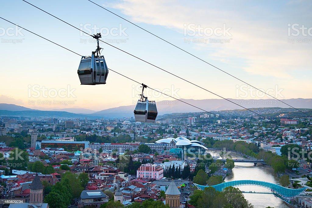 Tbilisi funicular, Georgia stock photo