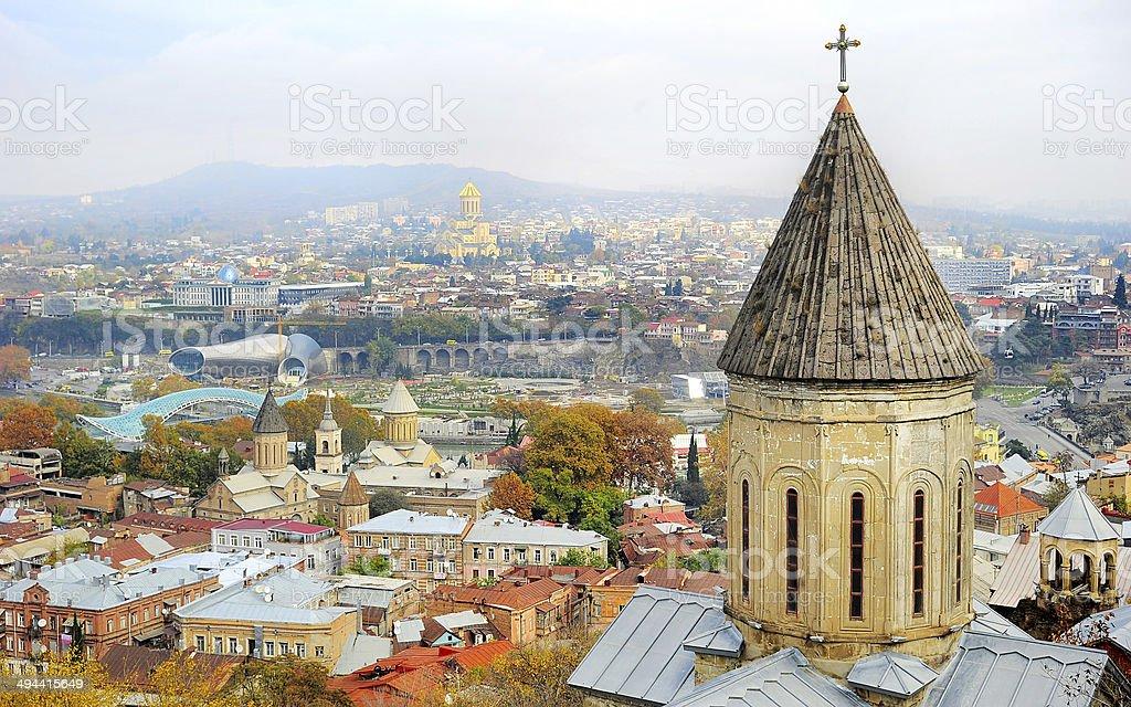Tbilisi skyline stock photo