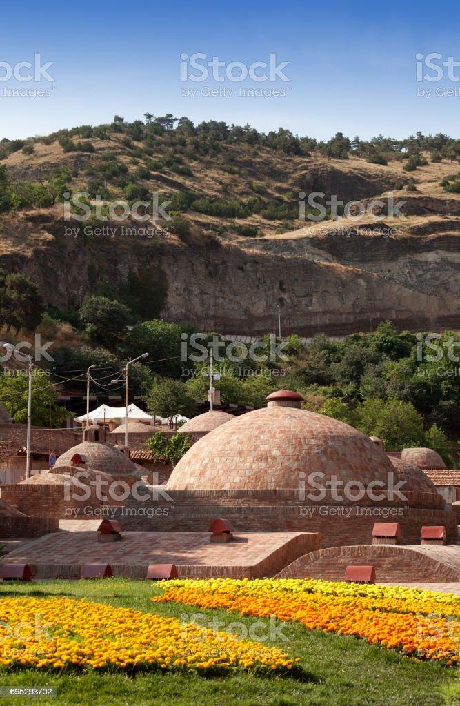 Tbilisi sulfuric baths, Georgia. stock photo