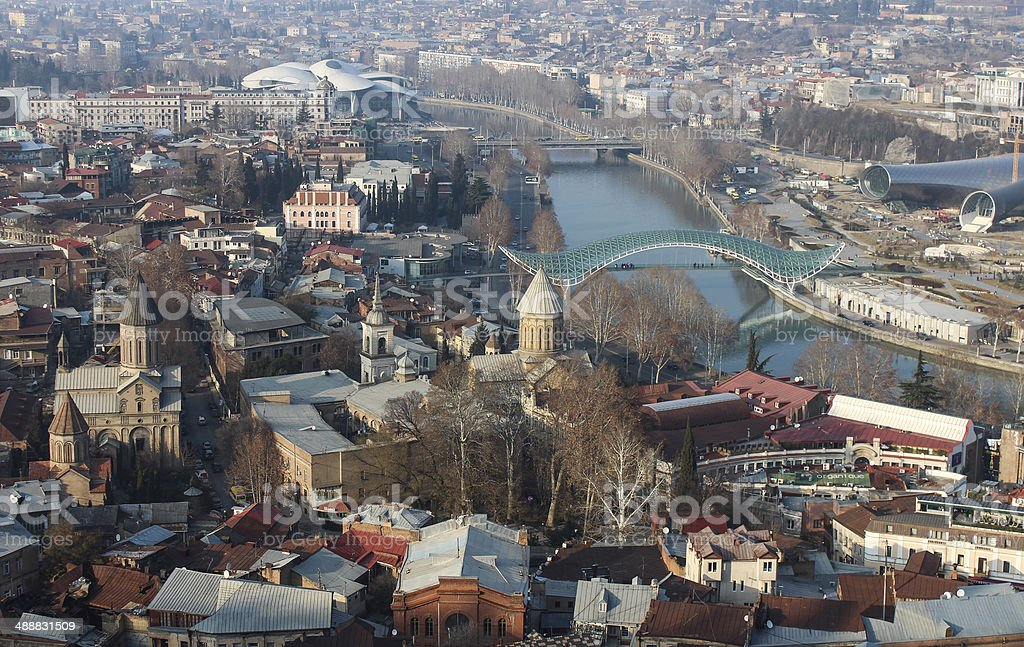 Blick vom Narikhala Tiflis Lizenzfreies stock-foto