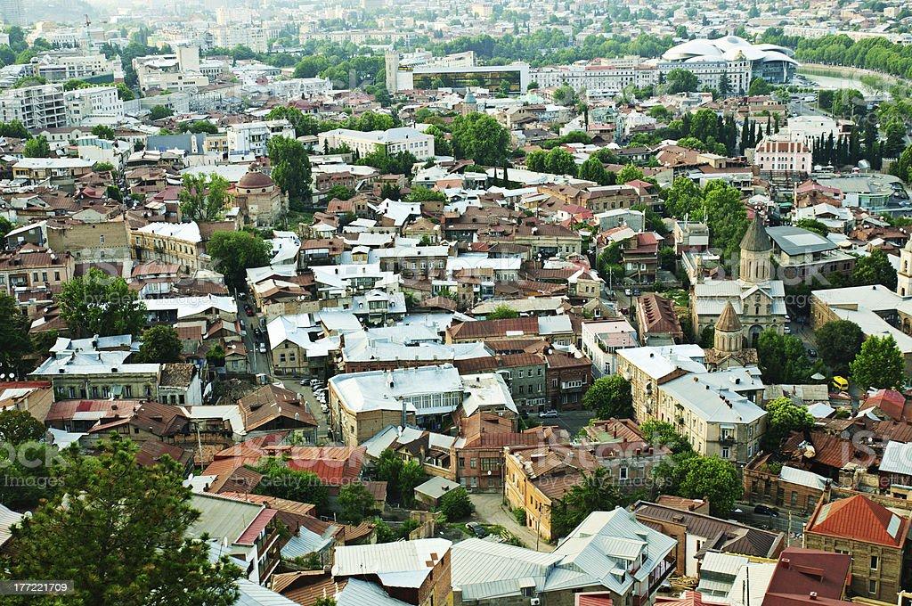 Tbilisi view royalty-free stock photo