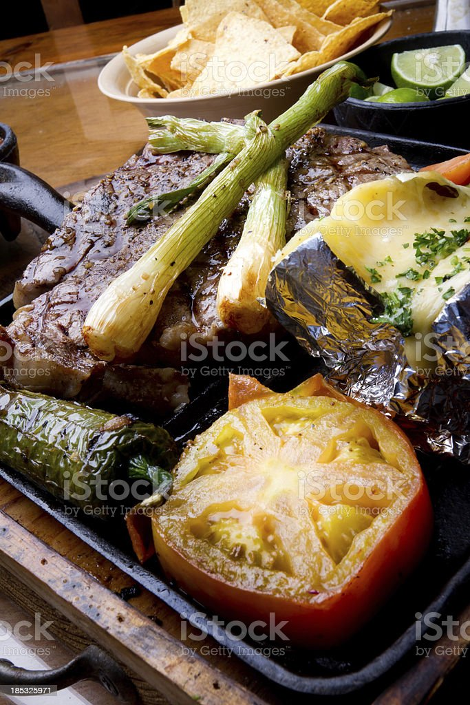 T-Bone Steak Dinner royalty-free stock photo
