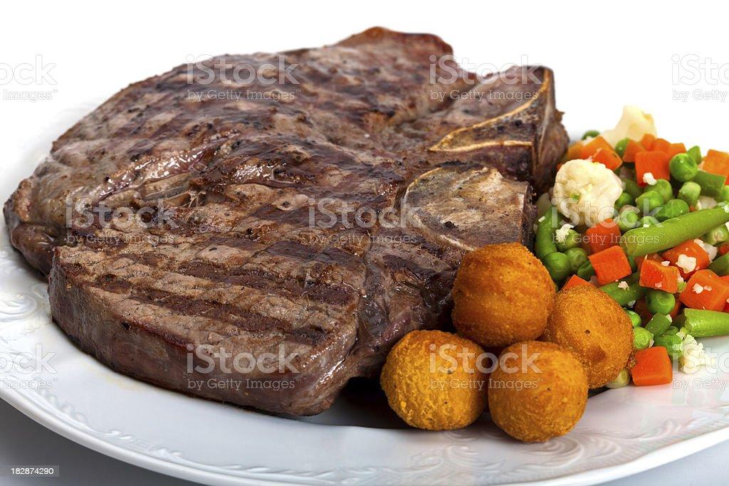 T-bone steak stock photo
