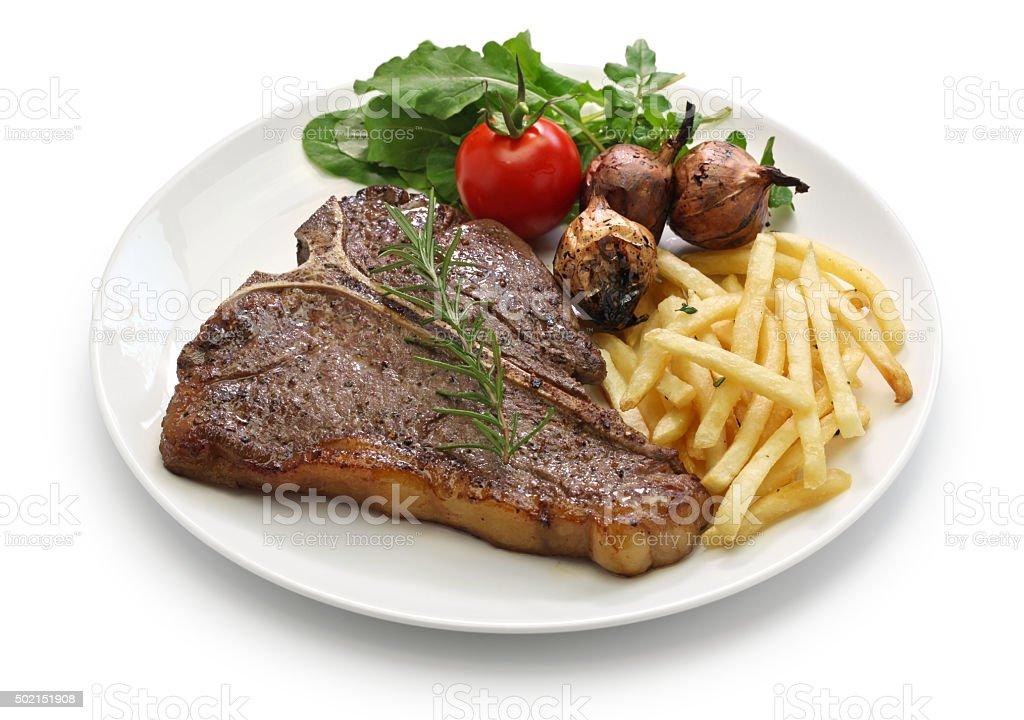 t-bone steak,porterhouse steak,bistecca alla fiorentina stock photo