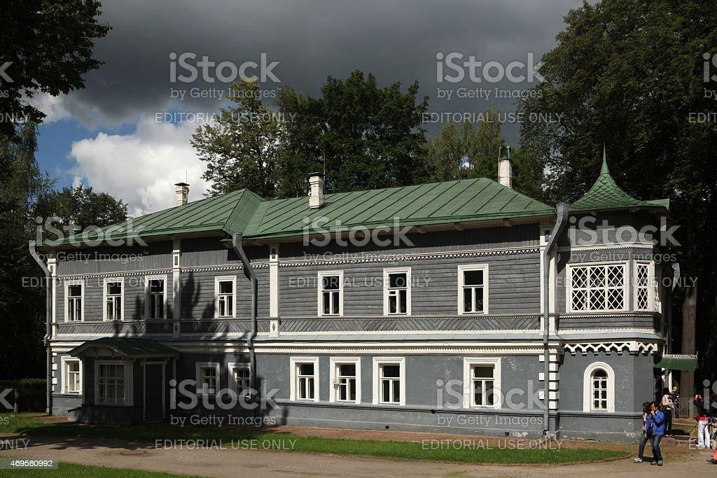 Tchaikovsky House Museum in Klin, Russia. stock photo