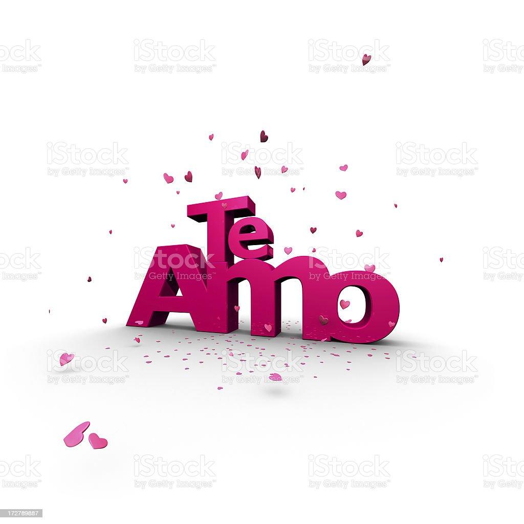 Te Amo (I LOVE YOU in Spanish) royalty-free stock photo