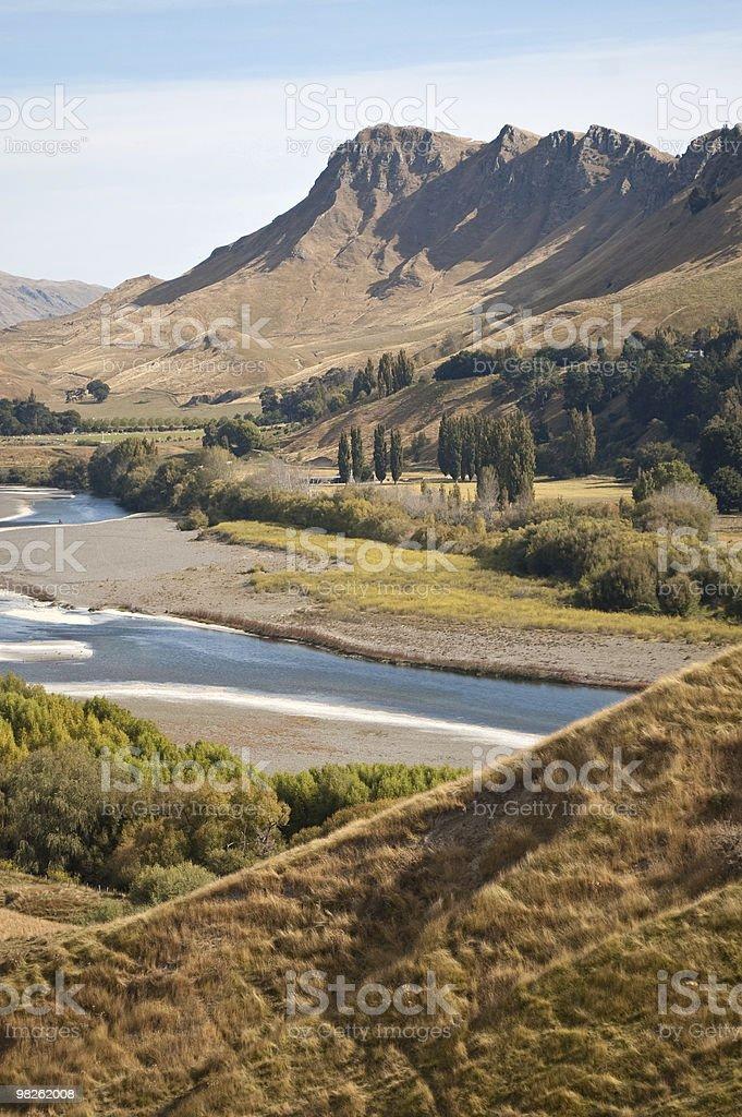 Te Mata Peak across the Tukituki Valley stock photo