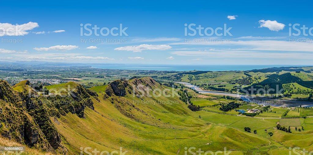 Te Mata Peak to Napier stock photo