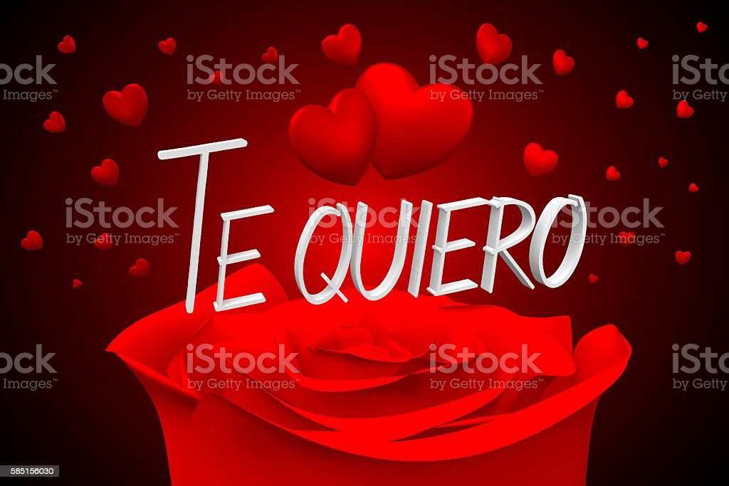 3D Te quiero - I love you - Spanish stock photo