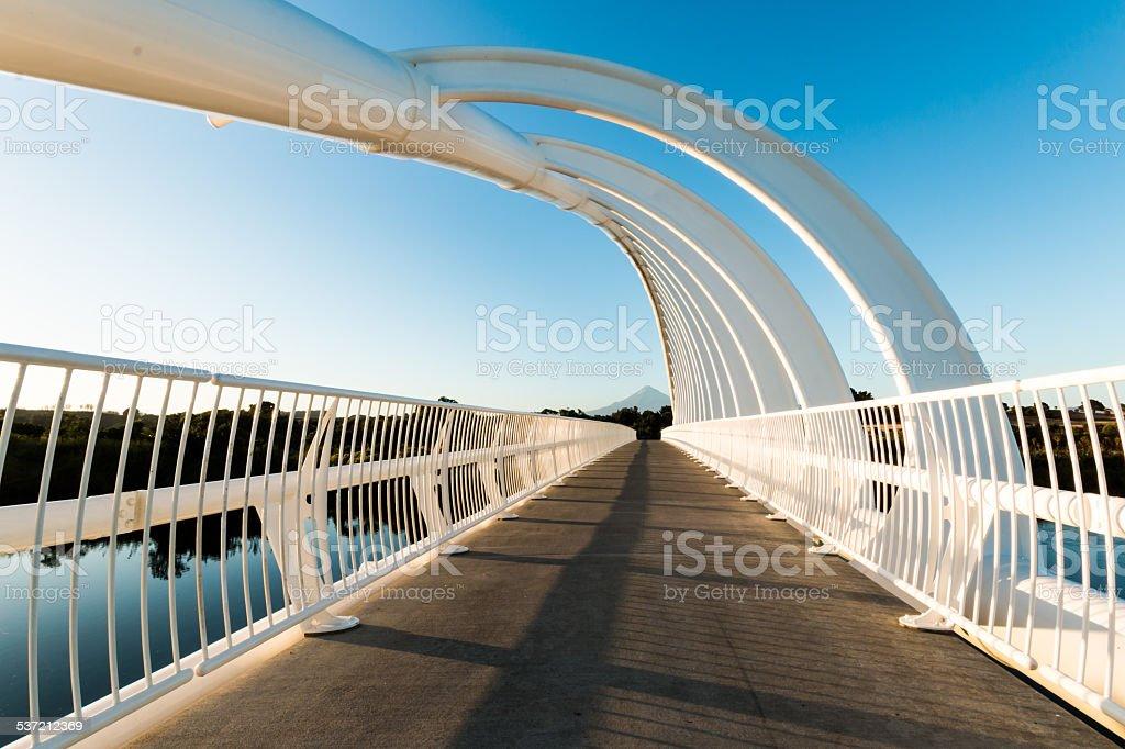 Te Rewa Rewa Bridge Walkway stock photo