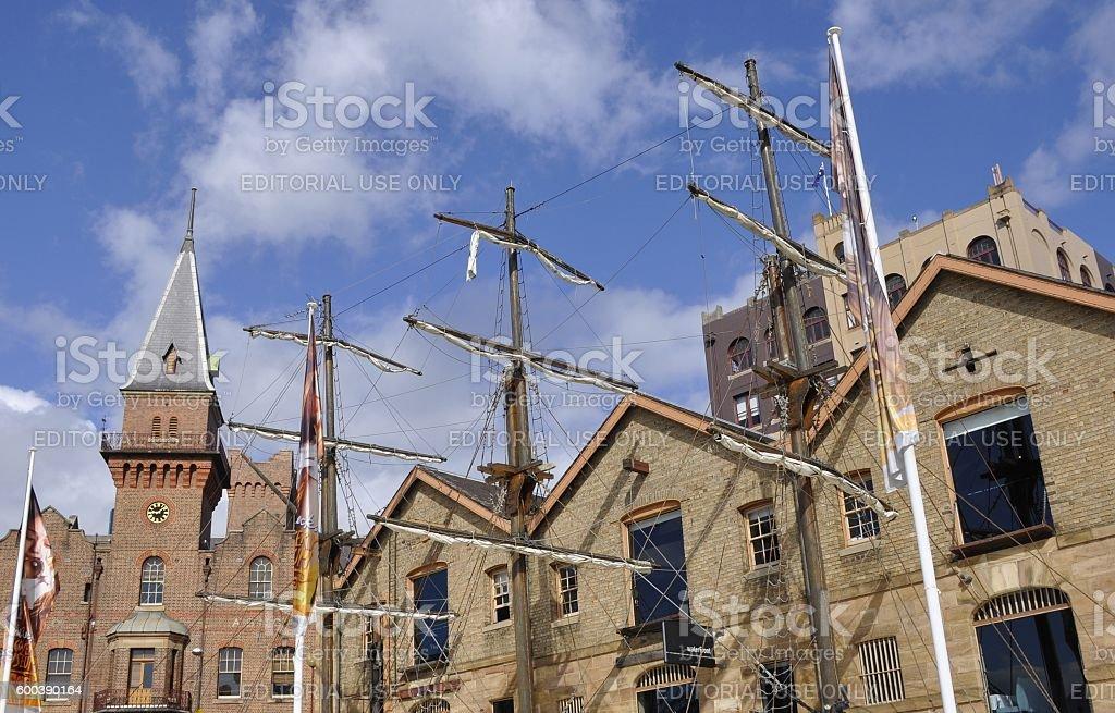Te Rocks warehouses stock photo