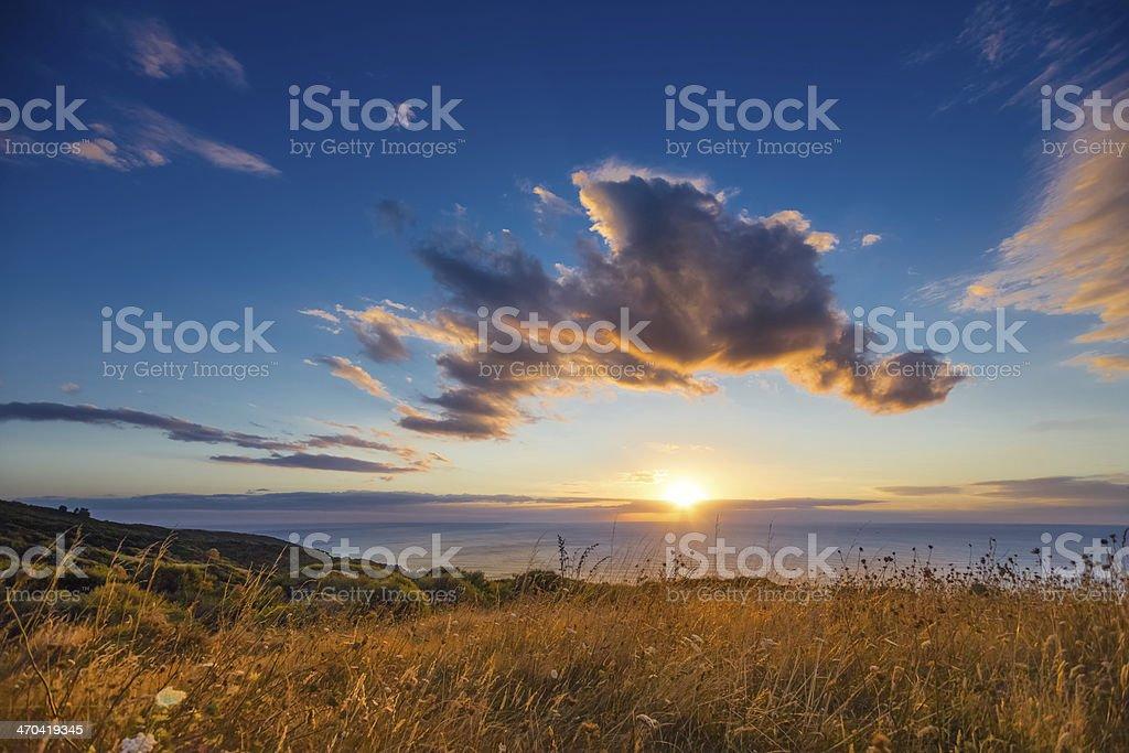 Te Toto Gorge Sunset stock photo