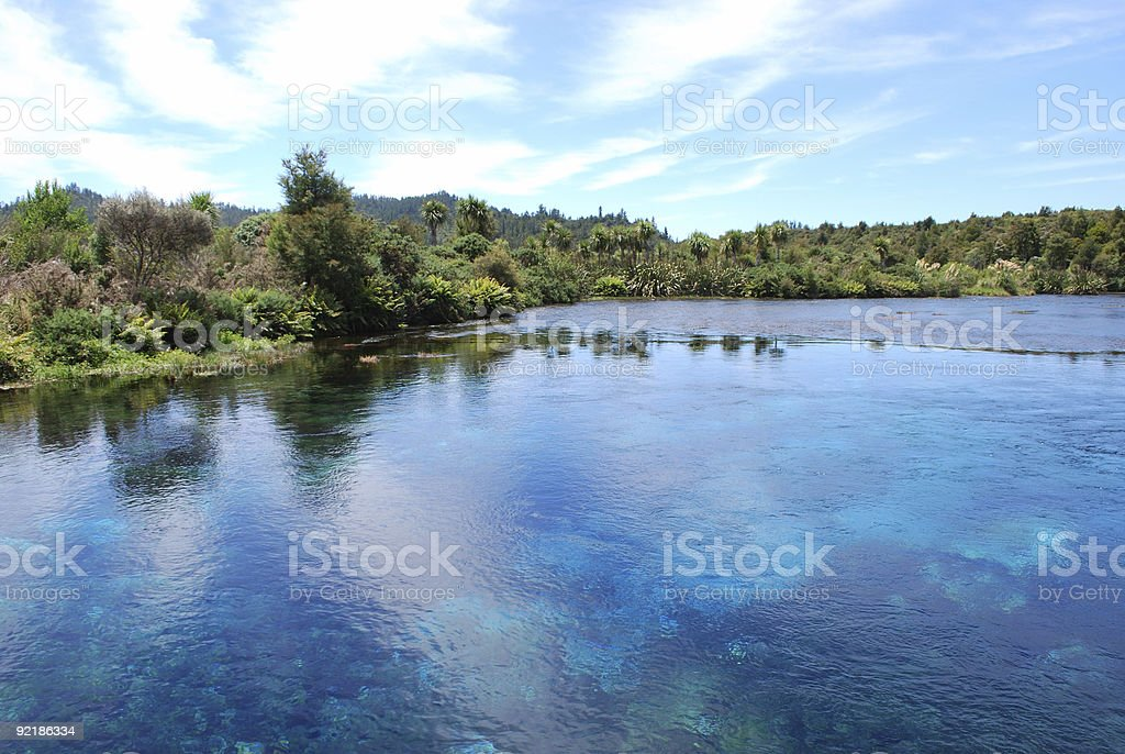 Te Waikoropupu Springs (Pupu), Golden Bay, NZ royalty-free stock photo