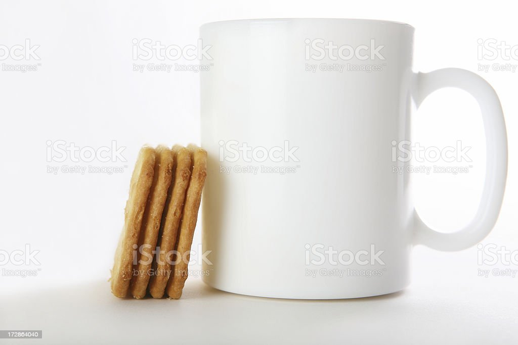 tea and biscuit royalty-free stock photo