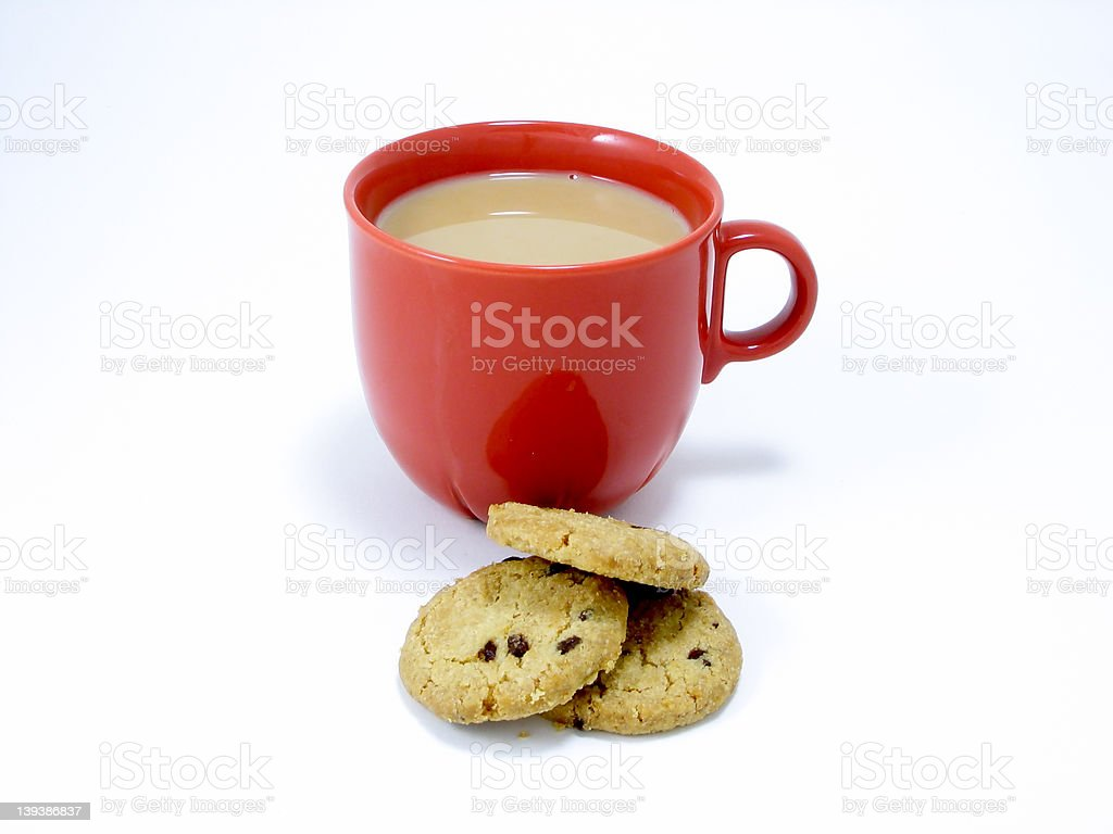 Tea and biscuits anyone stock photo