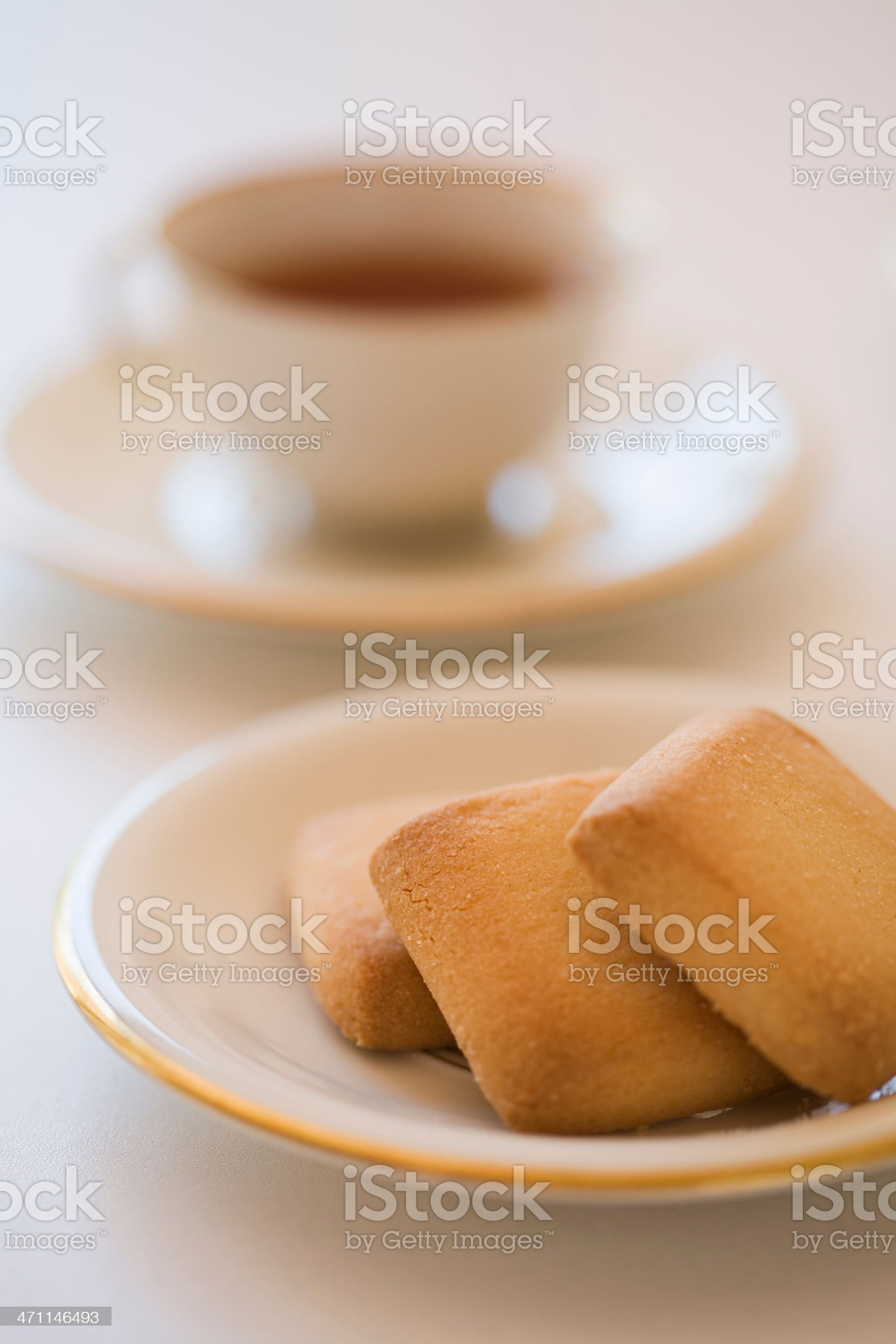Tea and Biscuits royalty-free stock photo