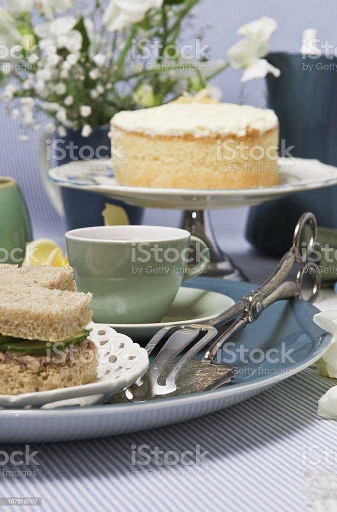 Tea and cake. royalty-free stock photo