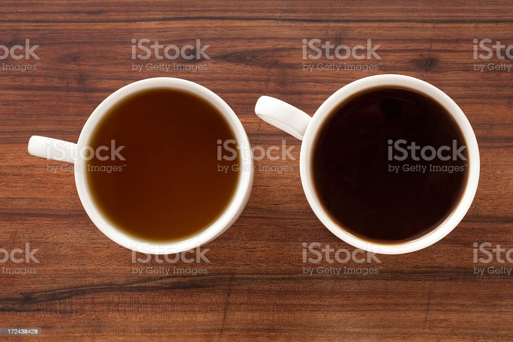 Tea and coffee royalty-free stock photo