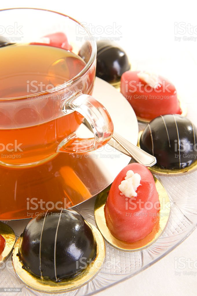 Tea and confectionery royalty-free stock photo