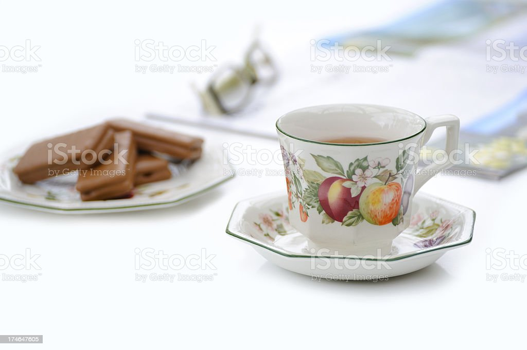 Tea and cookie time royalty-free stock photo