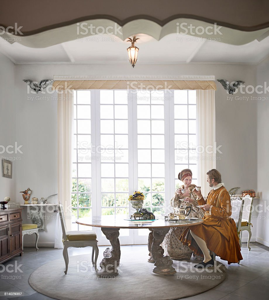 Tea and elegance stock photo