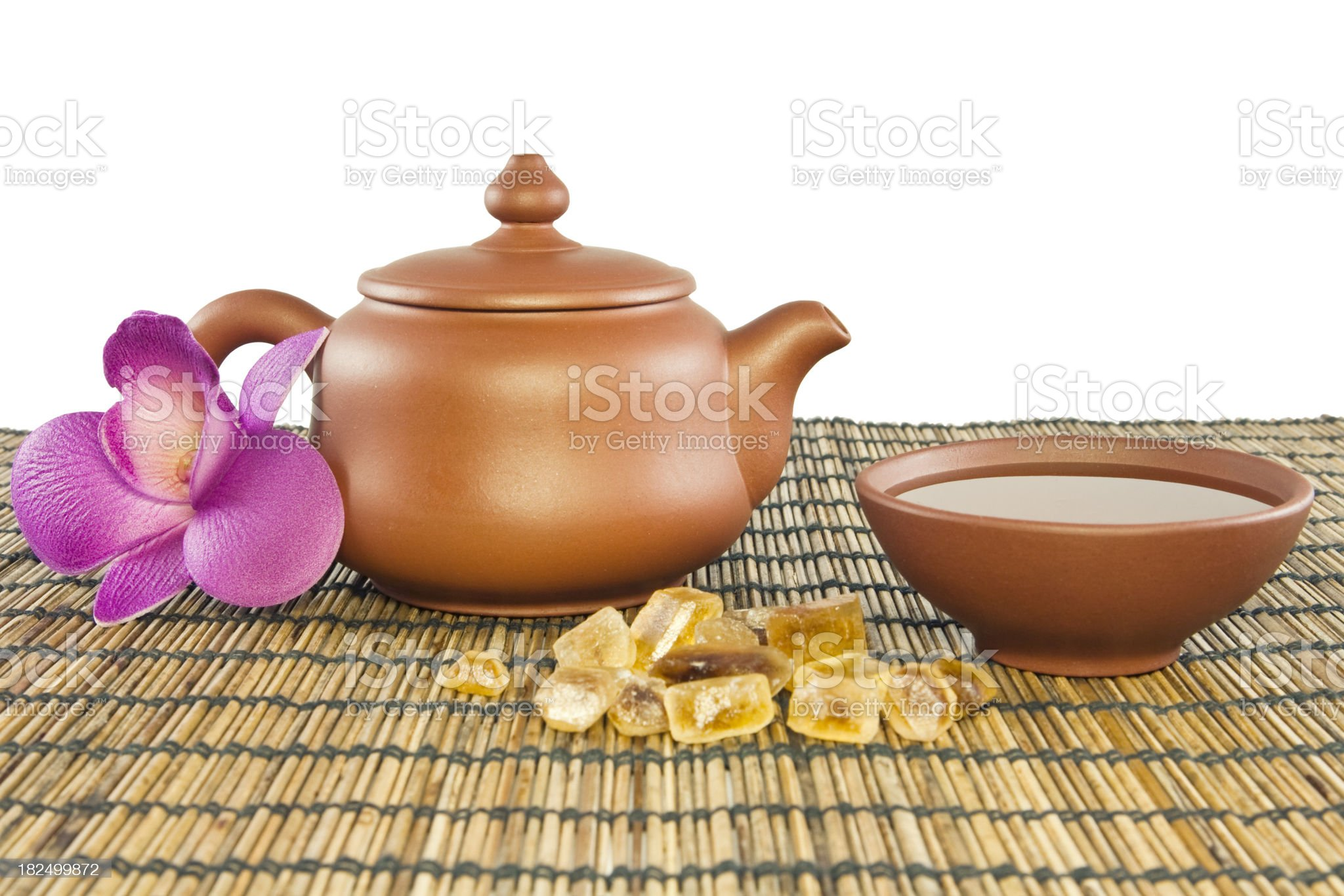 Tea and floral honey royalty-free stock photo