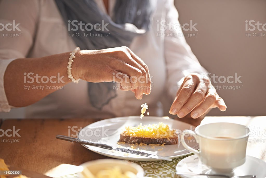 Tea and homemade bread... delicious! stock photo