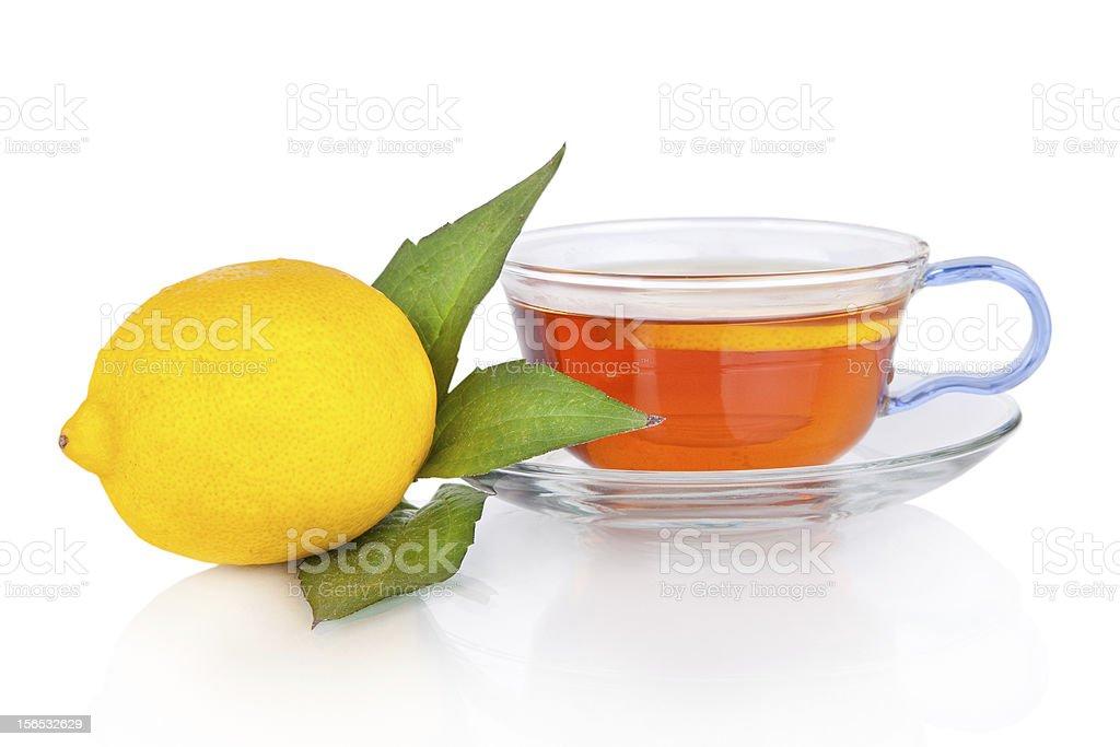 Tea and lemon royalty-free stock photo