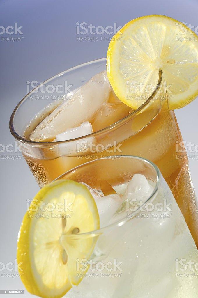 Tea and Lemondade royalty-free stock photo