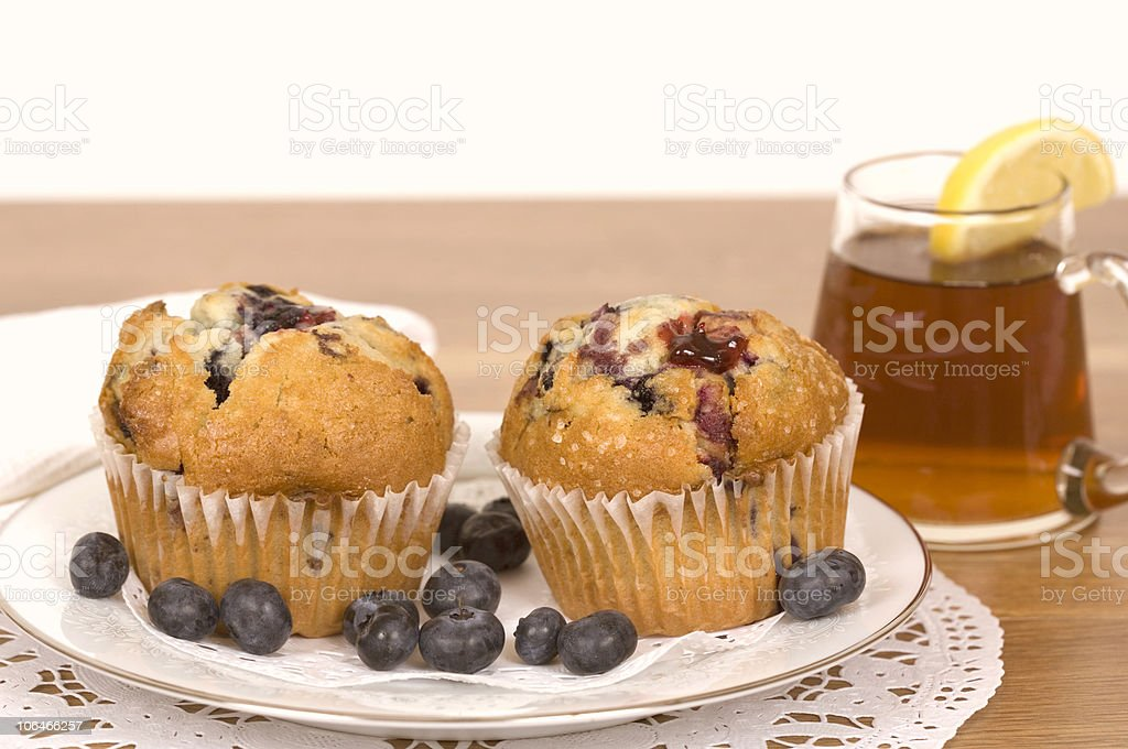 Tea and Muffins royalty-free stock photo