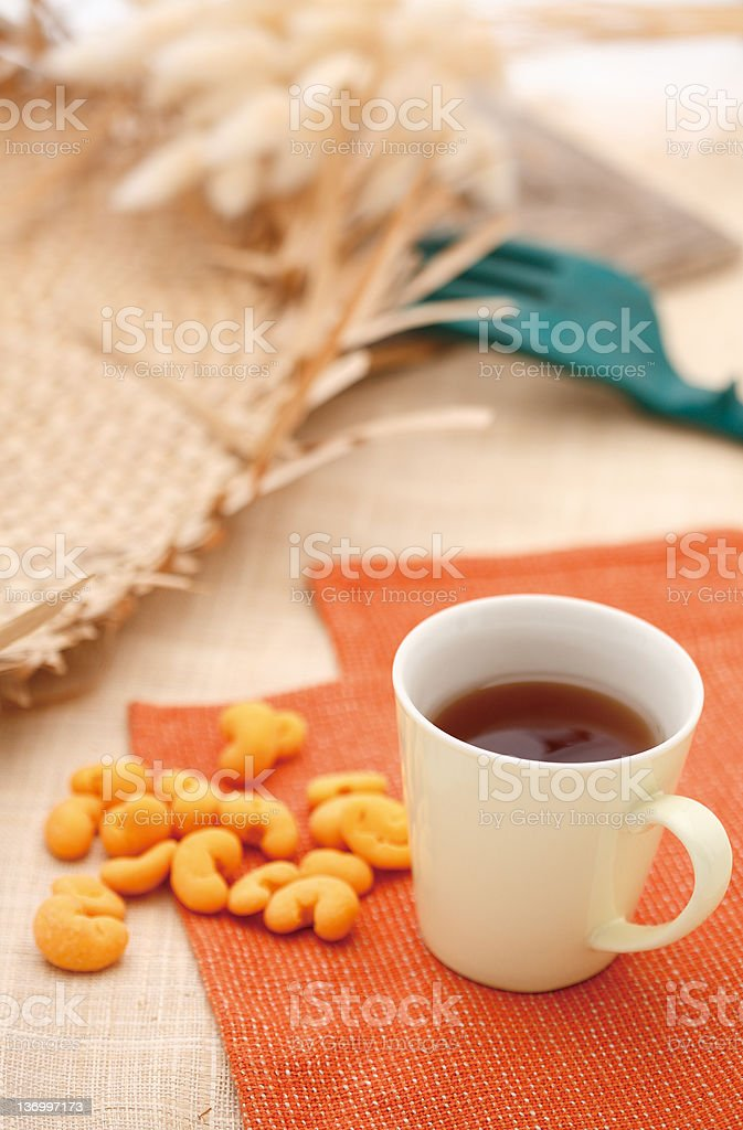 tea and nuts royalty-free stock photo