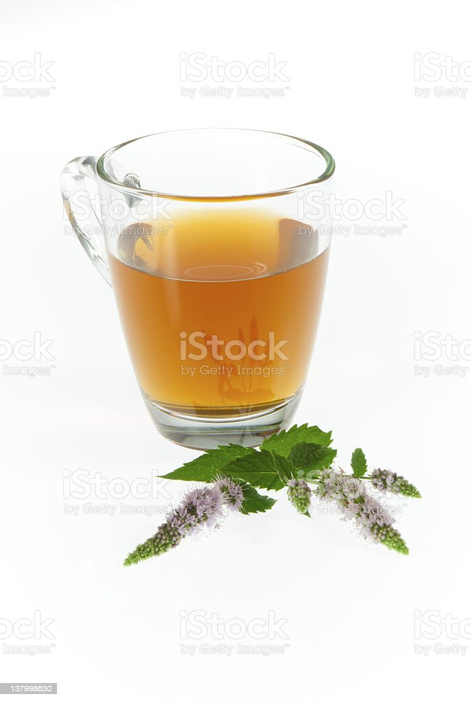 Tea and peppermint flowers royalty-free stock photo