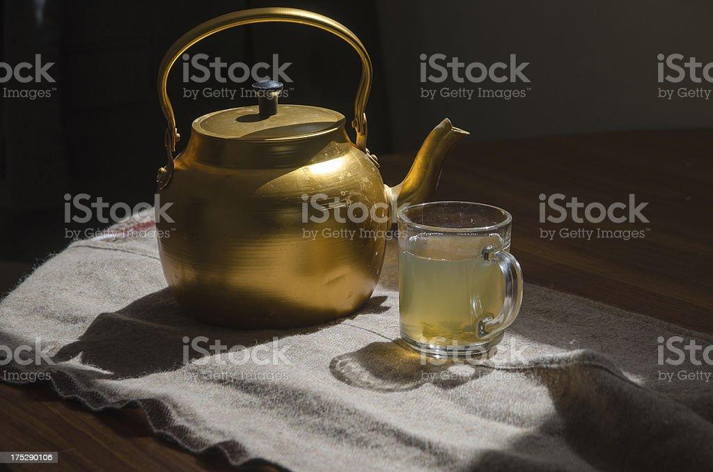 Tea and pot royalty-free stock photo
