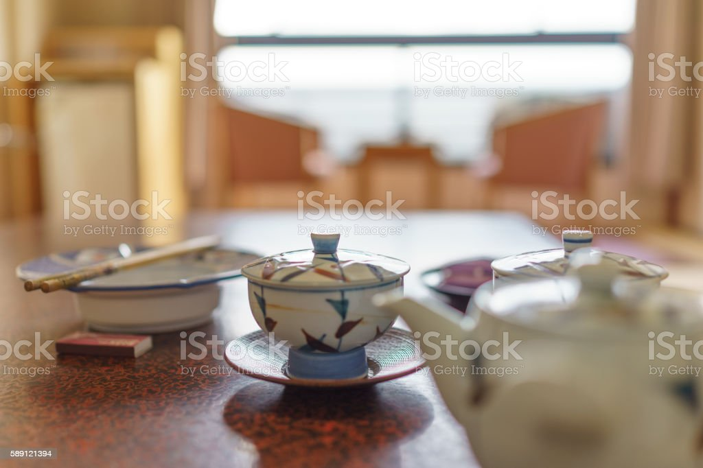 Tea and pot stock photo