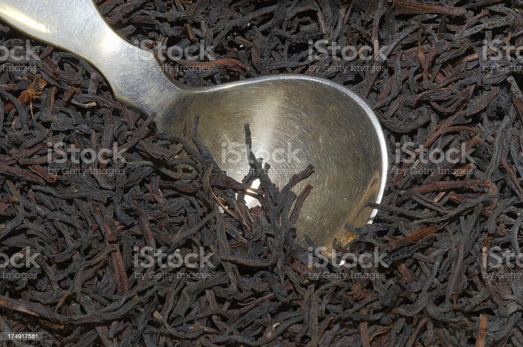 tea and silver spoon royalty-free stock photo