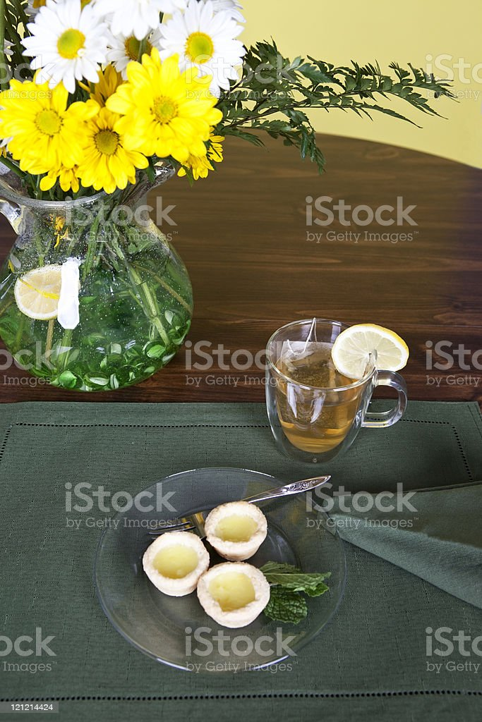 Tea and Tarts royalty-free stock photo