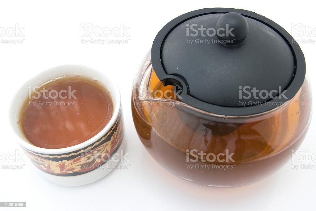 tea and teapot royalty-free stock photo