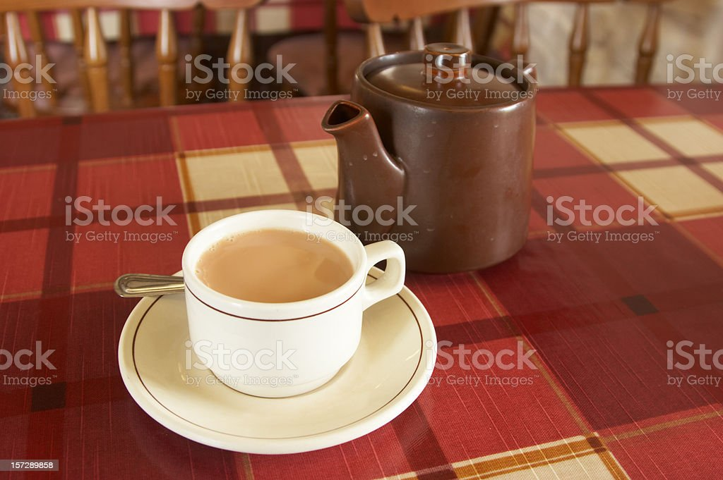Tea and teapot stock photo
