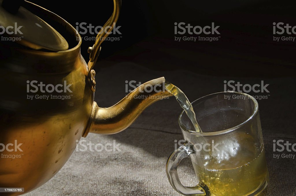 Tea and teapot royalty-free stock photo