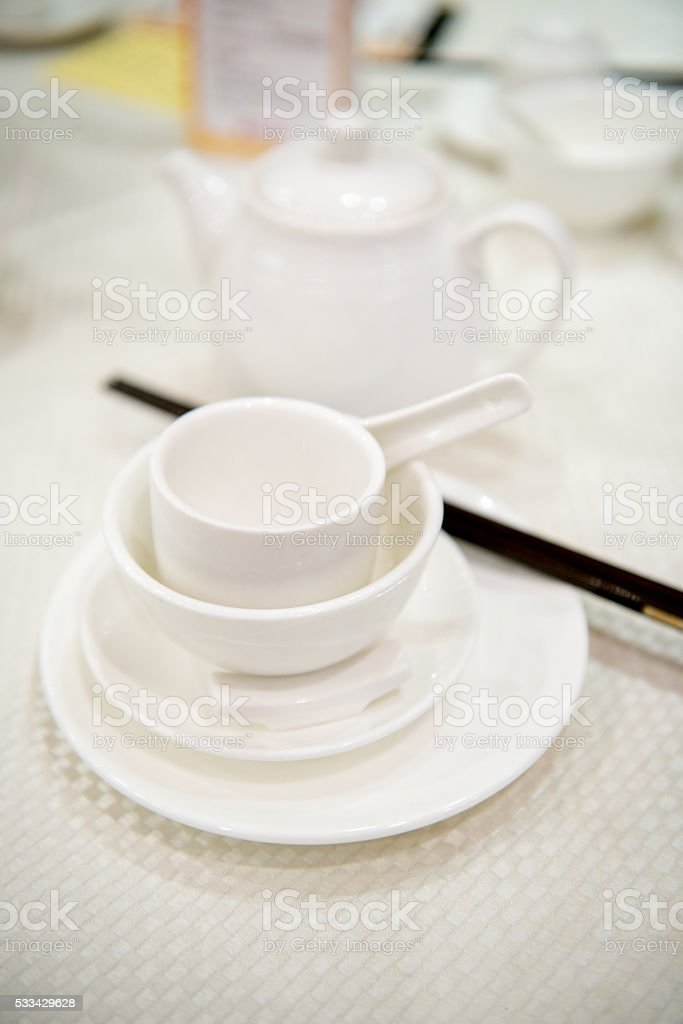 Tea at Chinese diner stock photo