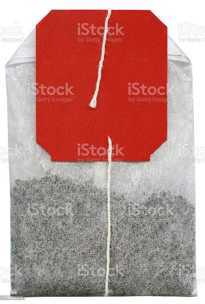 Tea bag isolated on white background royalty-free stock photo