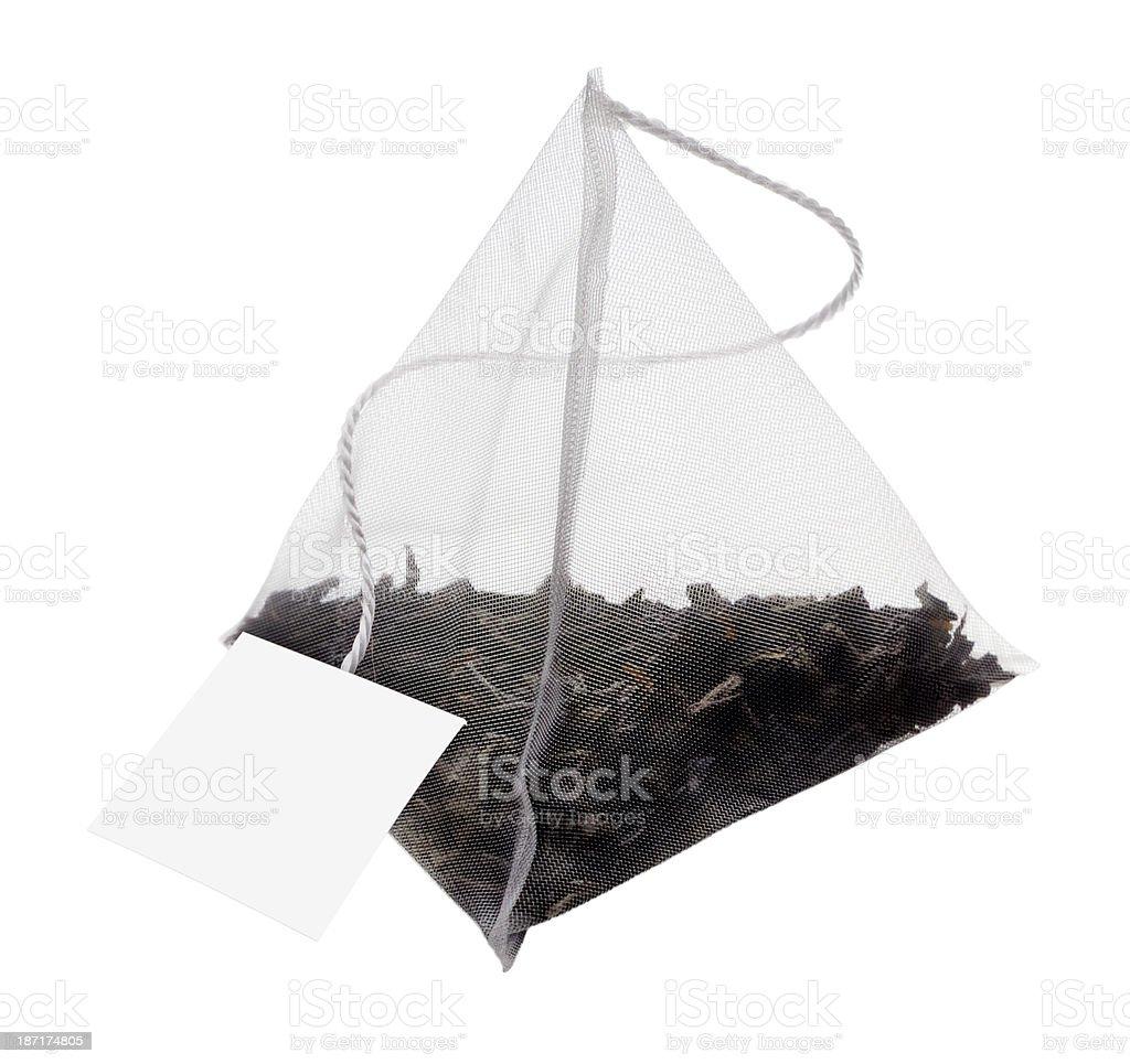 Tea bag(+clipping path) stock photo