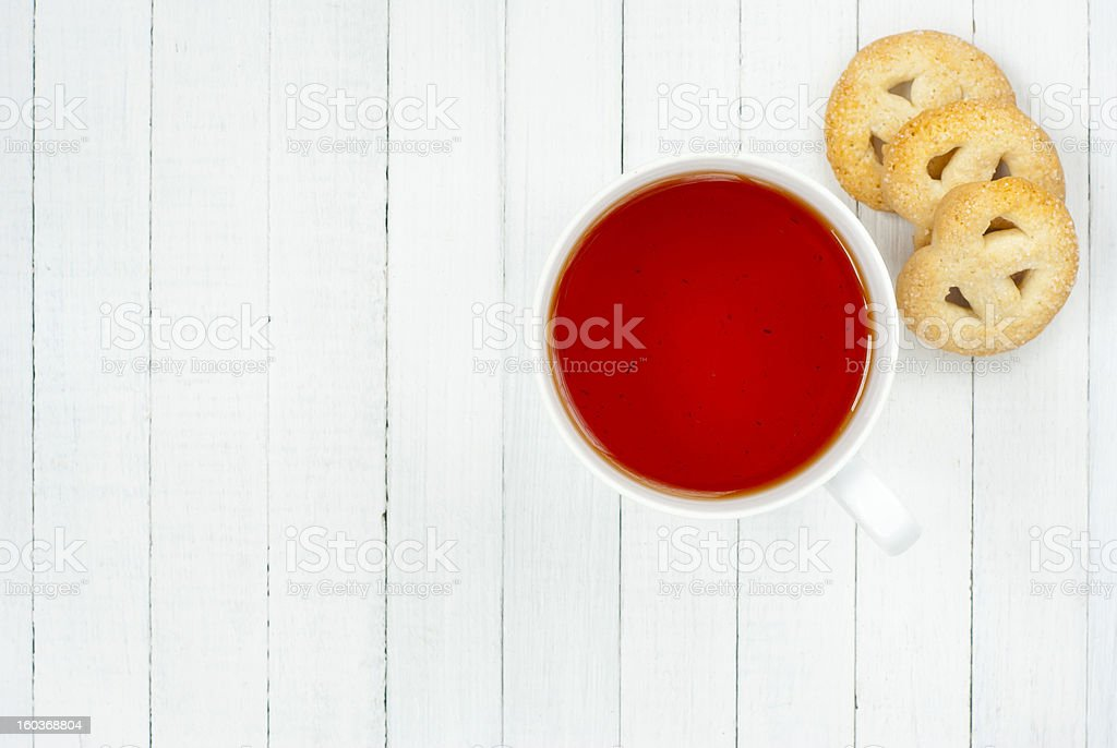 Tea, biscuits royalty-free stock photo
