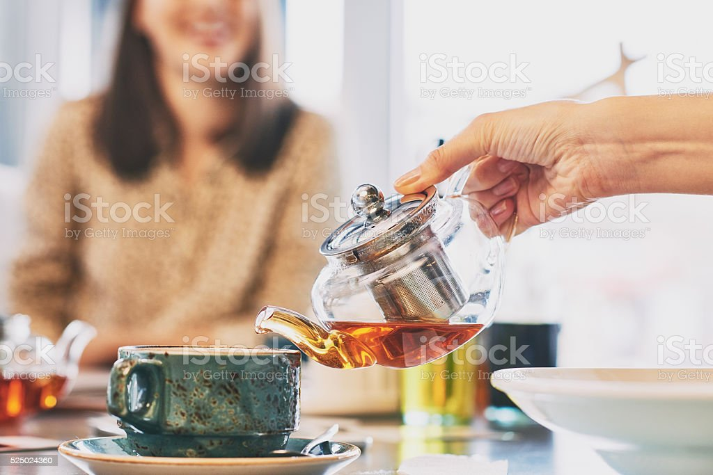 Tea break stock photo