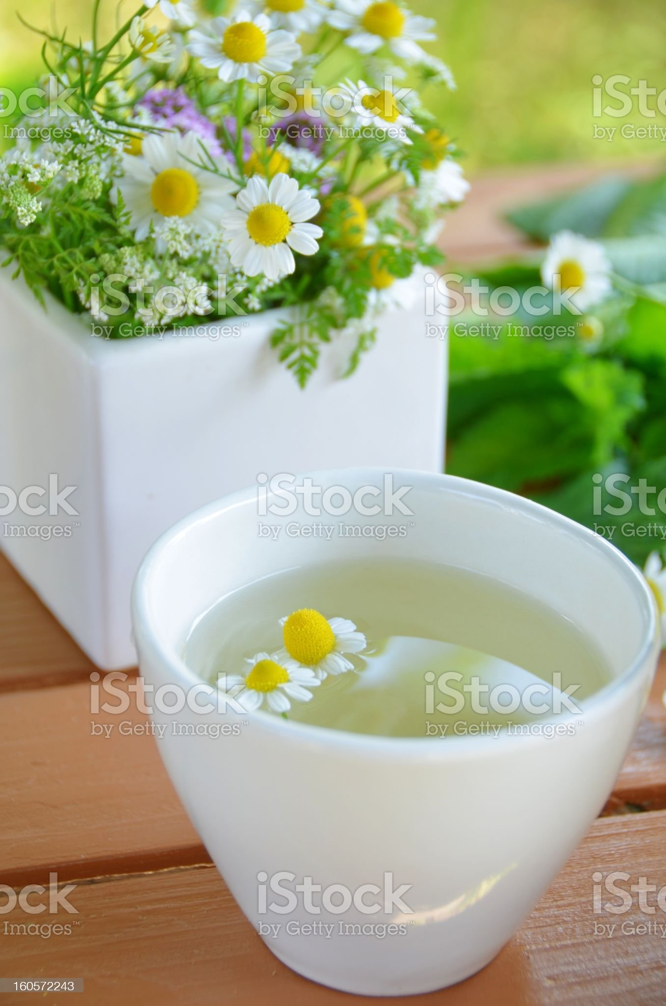 tea break with herbal flowers royalty-free stock photo