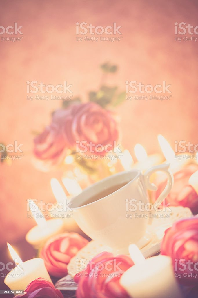 Tea by Candlelight royalty-free stock photo