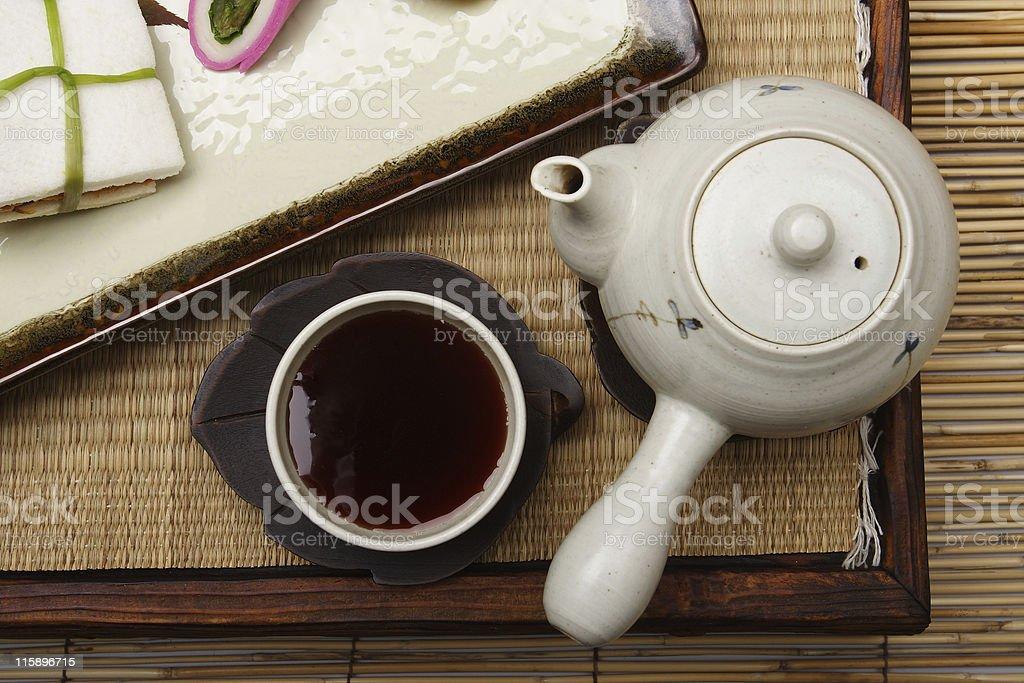 Tea & Cake royalty-free stock photo