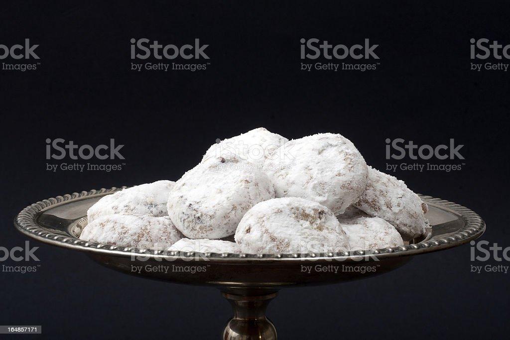 Tea Cakes on a Tray stock photo