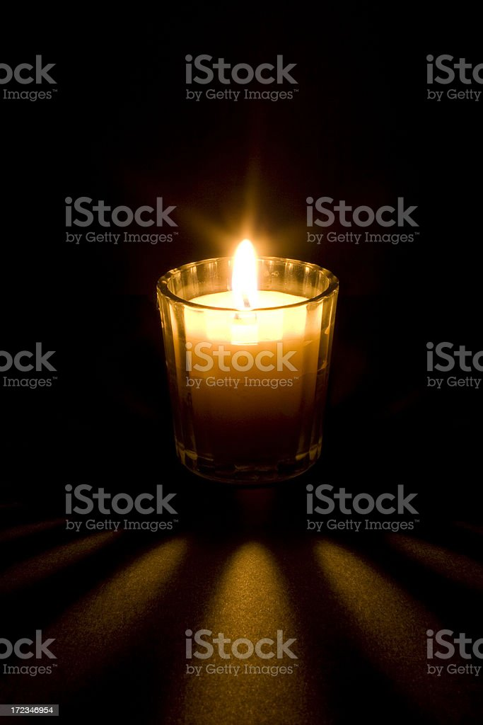 Tea candle royalty-free stock photo